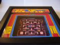 MS PAC MAN Arcade Screen  3D Diorama Shadow Box
